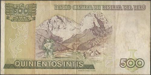 peru 500 intis 6 mar 1986 p135