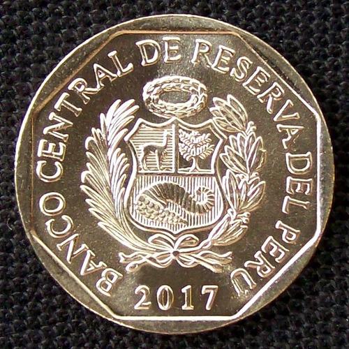 perú - moneda 1 sol 2017 - oso andino de anteojos  ¡ nueva !