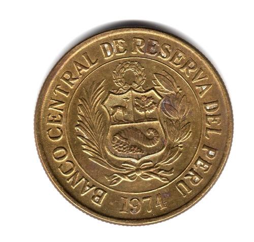 peru moneda 1 sol de oro año 1974 km#248