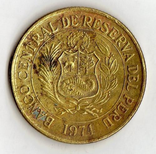 perú un sol de oro 1974 - vicuña - hermosa pieza