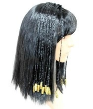 peruca adulto nefertari rainha do egito cleopatra