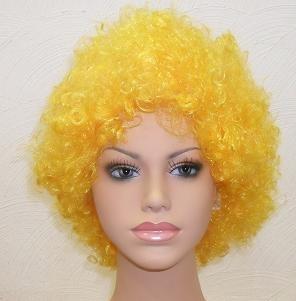 peruca black sintética amarela fio nacional
