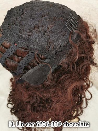 peruca cabelo 35cm colorida vermelha curta natal