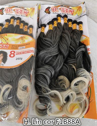 peruca cabelo organico 8 telas f1b88a preto mechas loiro pla