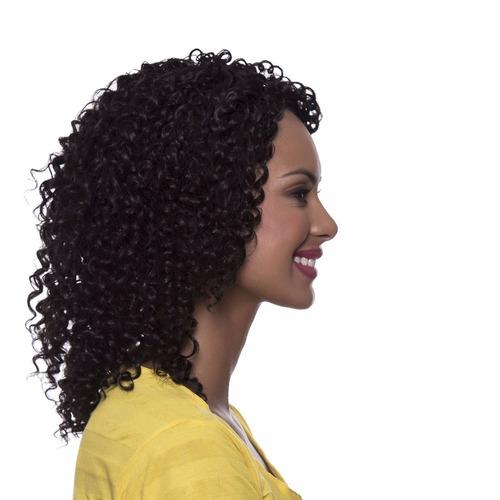 peruca cacheada tauane #4 castanho natural