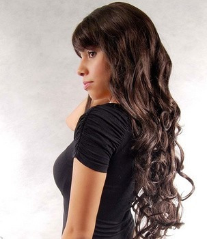 peruca castanho cacheada/ com ajuste/ aceita temperatura!