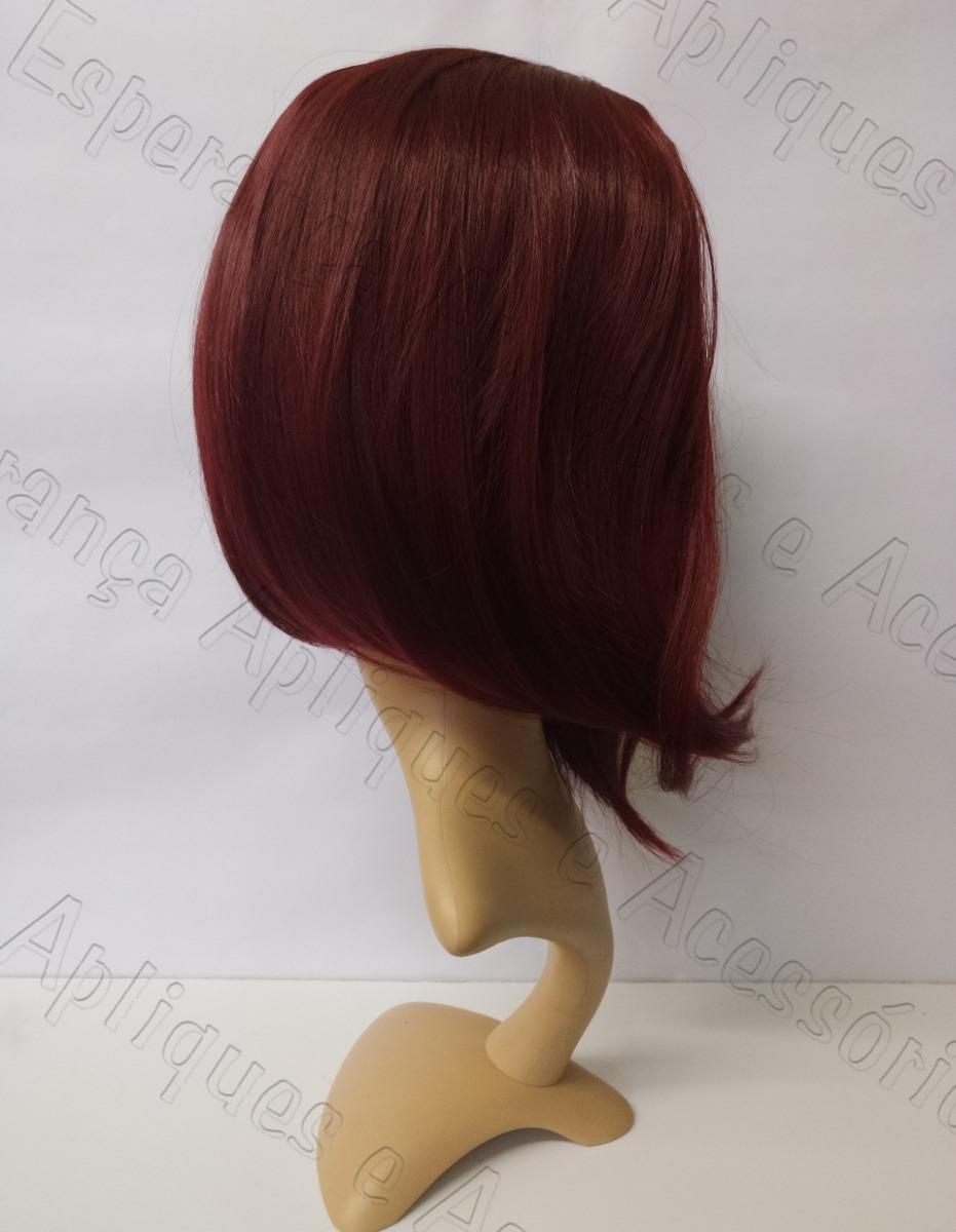 023bd3f38 peruca chanel long bob vermelho escuro 343 lacewig 35cm 170g. Carregando  zoom.