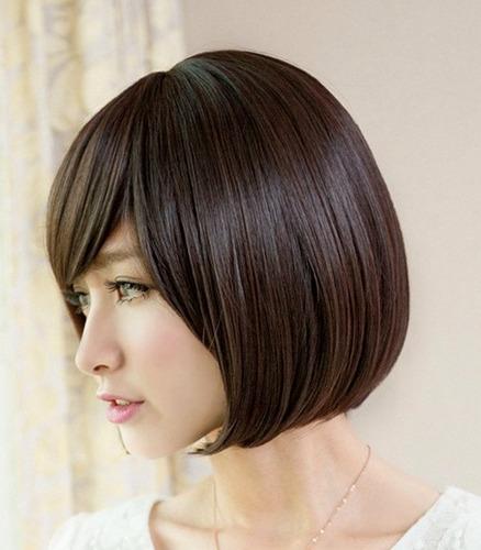 peruca curta/ preta/ castanho/ com ajuste!!!