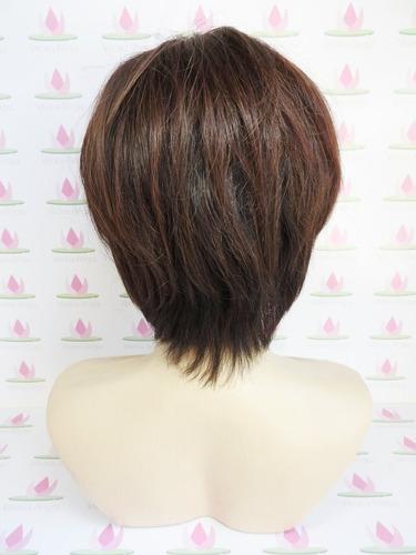 peruca curtinha com risca micropele cabelo humano brasileiro