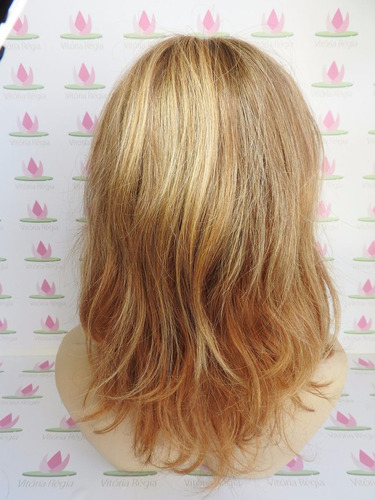 peruca drika loira especial cabelo natural humano