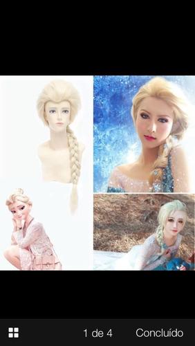 peruca elsa frozen