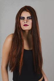 peruca halloween bruxa sintética fio nacional