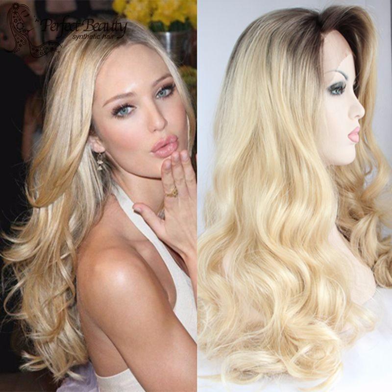 Peruca Lace Front Wig Ombr 233 Hair Loira Cacheada Promo 231 227 O