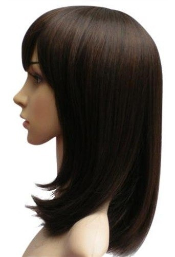 peruca lisa pontas viradas sintética clarice