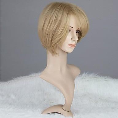 peruca loira  lisa / com ajuste / igual cabelo humano.