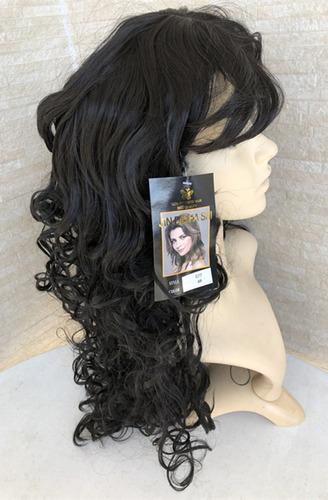 peruca longa 1# preta cacheado afro crespo 077 p natal festa