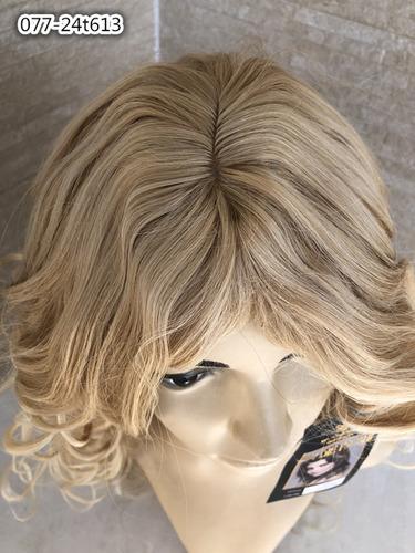peruca longa 24t613 loiro perola platinado 80cm organico 077