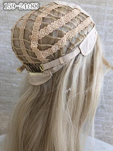 peruca longa parece cabelo humano 293 cor 27/613 loira calif