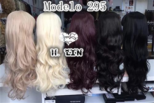 peruca longa parece cabelo natural 295/613 loiro platinado