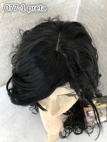 peruca longa parece cabelo natural cor 1# preto fronte lace