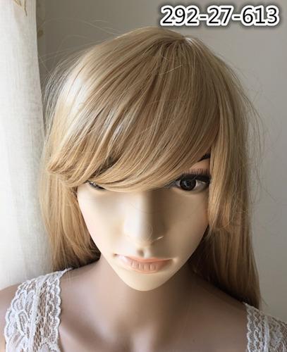 peruca longa parece cabelo natural loiro clarissimo 613 plat
