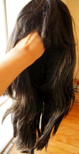 peruca média castanha escuro 57 cm - mega promoção!!!!