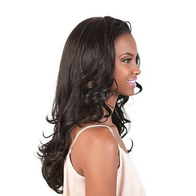 peruca preta / 55 cm / com ajuste/ aceita temperatura.