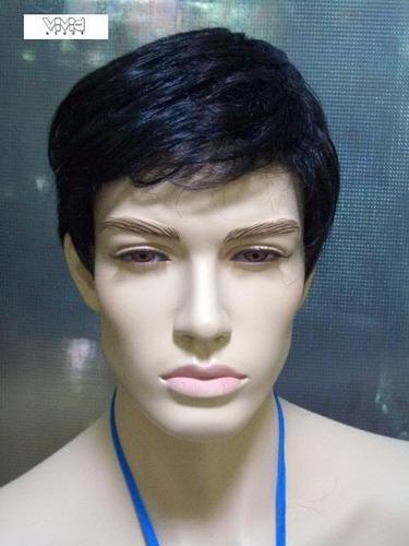peruca preta masculina/ com ajuste/ aceita temperatura!!!