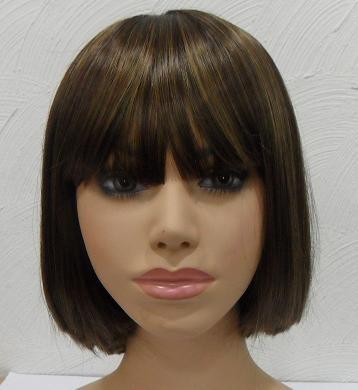 peruca sintética curta brinco de princesa fio importado