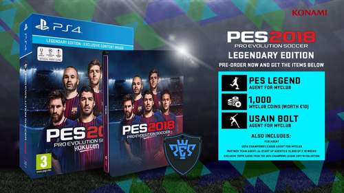 pes 18 pro evolution soccer 2018 legendary edition ps4