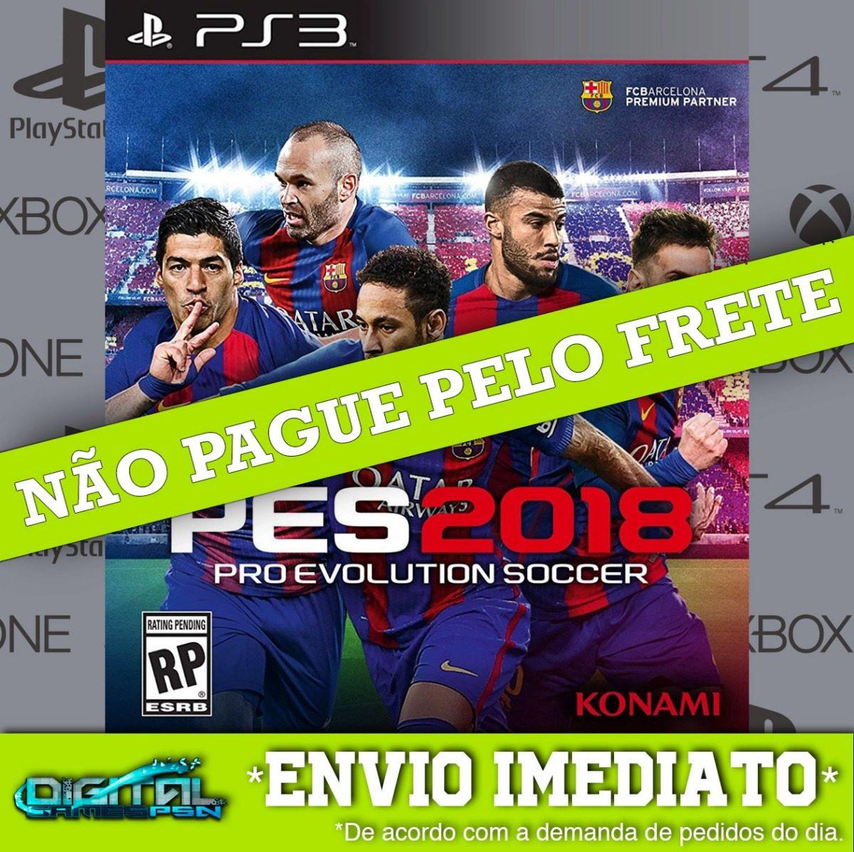 Pes 18 Pro Evolution Soccer 2018 Ps3 100% Digital Dublado Pt