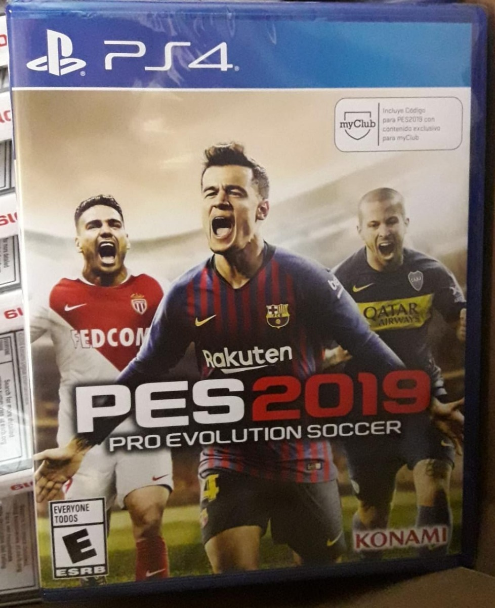 Pes 19 Juego Fisico Ps4 Pro Evolution Soccer 2019 Disponible