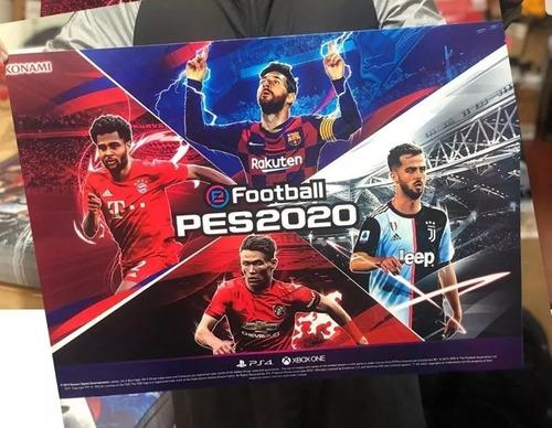 pes 20 ps4 100% original + póster + pulsera + figura soccer