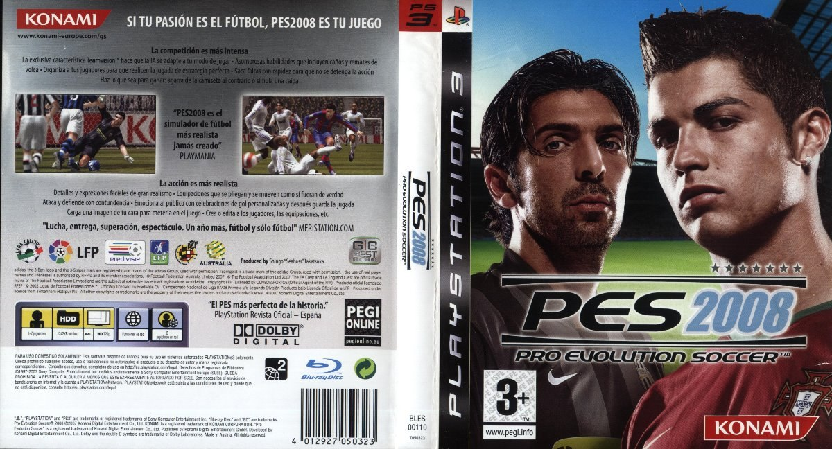 Pes 2008 Pro Evolution Soccer Ps3 Fisico - $ 100,00