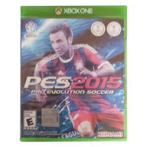 pes 2015 pro evolution soccer para xbox one (nuevo,sellado)