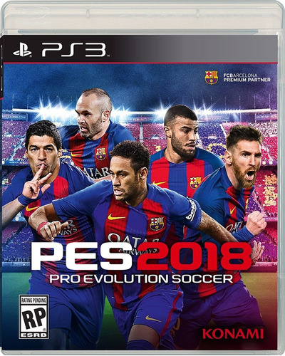 pes 2018 ps3 disco físico/ stock /entrega inmediata