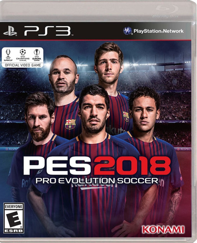 pes 2018 ps4, ps4 pro, ps3 xbox one, xbox pes18 disco fisico