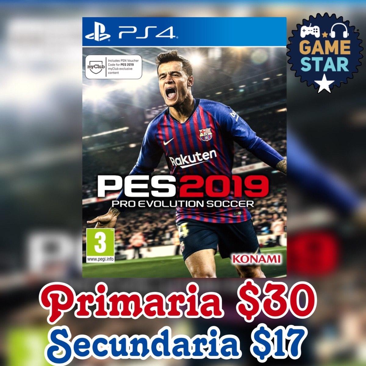 Pes 2019 Ps4 Juego Digital U S 16 99 En Mercado Libre