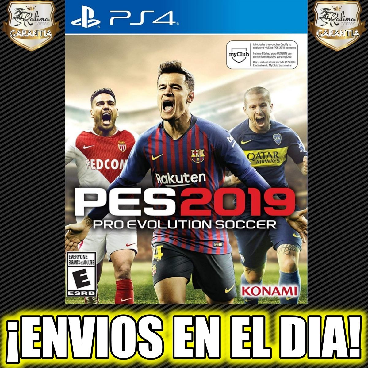 Pes 2019 Ps4 Pes 19 Latino Playstation 4 Digital 1 1 600 00 En