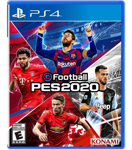 pes 2020 efootball + poster oficial playstation 4