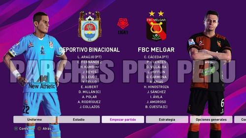 pes 2020 parche of liga 1  liga 2 + l.europeas mls mx ps4