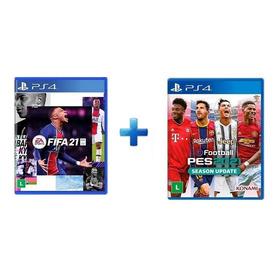 Pes 2021  + Fifa 21 Midia Fisica - Ps4