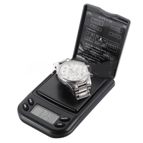 pesa digital de bolsillo 500g/0.1g gramos para joyas&lupa 10
