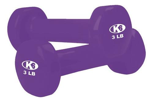 pesa k6 mancuerna vinil x3 libras