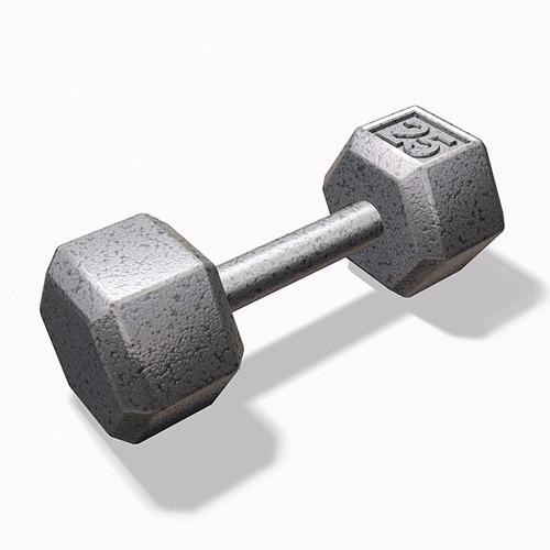 pesa mancuerna hexagonal cromada 25 lb bodyfit bf-hex025