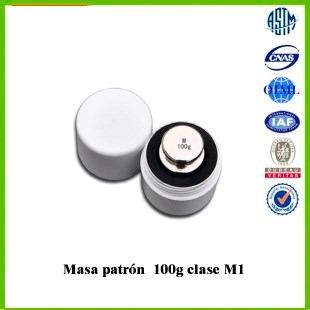 pesa patrón 100g oilm clase m1 acero inoxidable