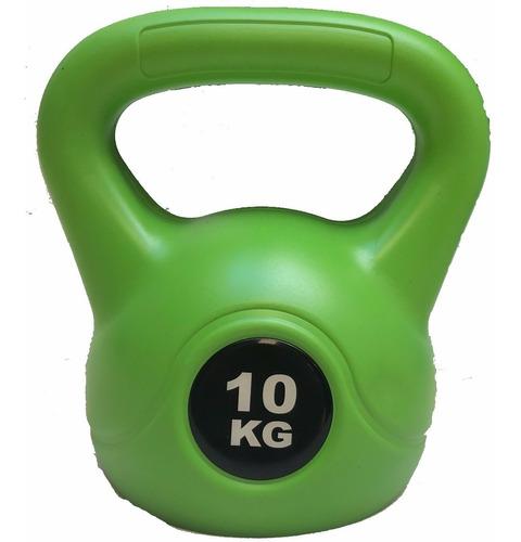 pesa rusa kettlebell 10 kg pvc crossfit funcional importada
