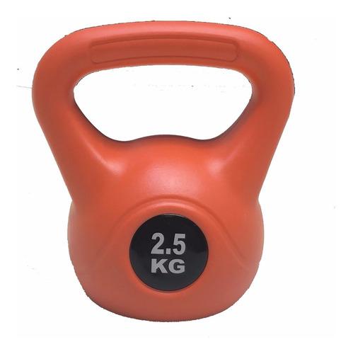 pesa rusa kettlebell 2.5 kg pvc crossfit funcional importada