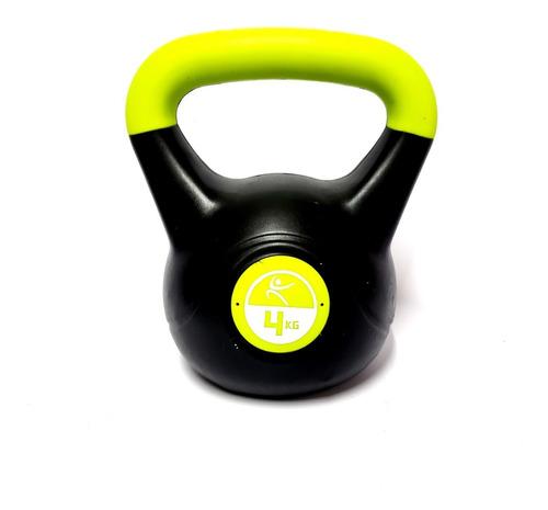 pesa rusa kettlebell 4 kg recubierta mancuerna importada gym