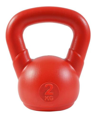 pesa rusa mancuerna kettlebell 2 kg pvc  crossfit funcional